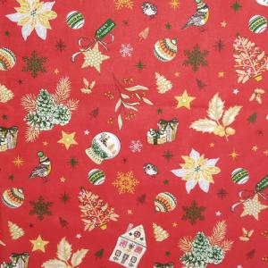 Tissu Noël rouge